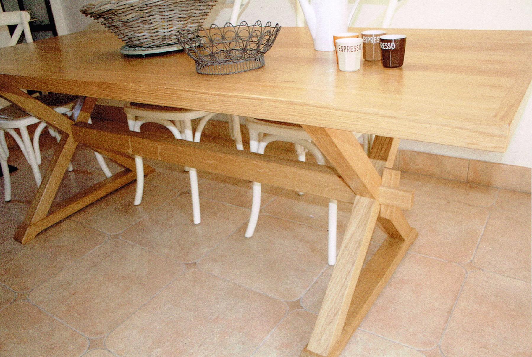 Menuiserie durieux r alisations table de salle manger for Fabrication d une table de salle a manger