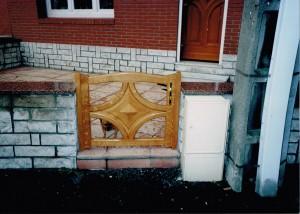 Portique d'entrée installé (Bouchain)