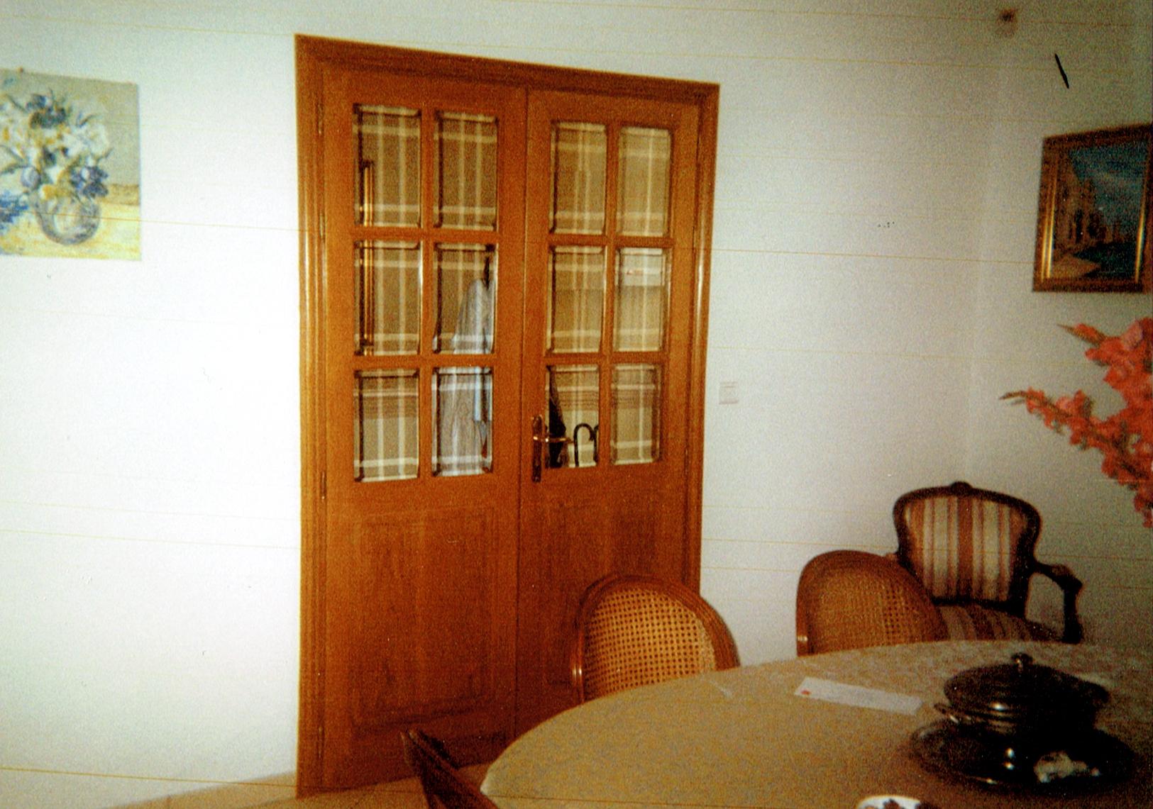 menuiserie durieux r alisations double porte de salon. Black Bedroom Furniture Sets. Home Design Ideas