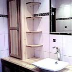 Meuble de salle de bain avec étagères en dégradé