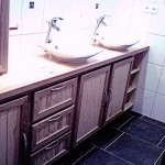 meuble de salle de bain avec double vasques